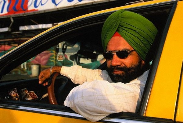 ca. 1997 --- Sikh Taxi Driver --- Image by © Catherine Karnow/CORBIS