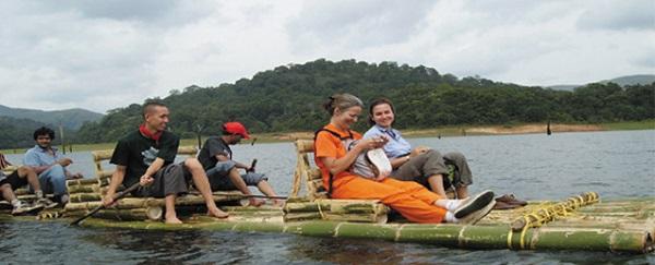 Photo Credit http://www.periyarecotourism.com/bamboo-rafting.html