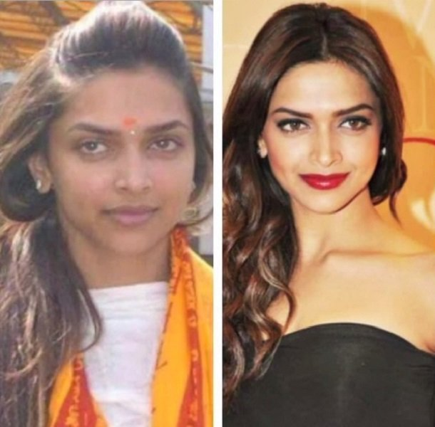 25 Hot Bollywood Actresses With & Without Make Up