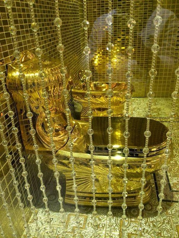 Photo Credit:http://indiatoday.intoday.in/gallery/gold-toilet-gifted-by-arab-king-to-daughter/1/13125.html