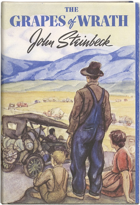 Photo Credit http://kids.britannica.com/comptons/art-144320/The-first-edition-of-John-Steinbecks-novel-The-Grapes-of
