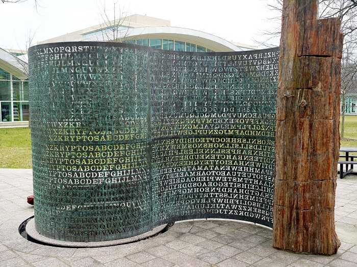 Photo Credit http://www.wired.com/2014/11/second-kryptos-clue/